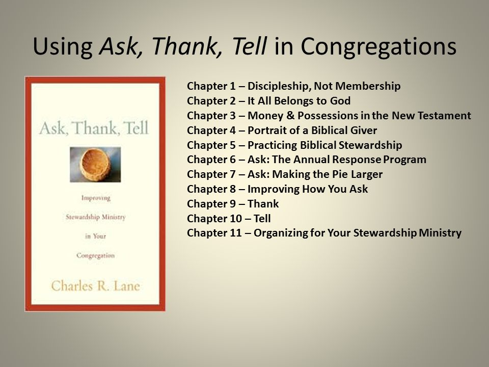 Using Ask, Thank, Tell in Congregations