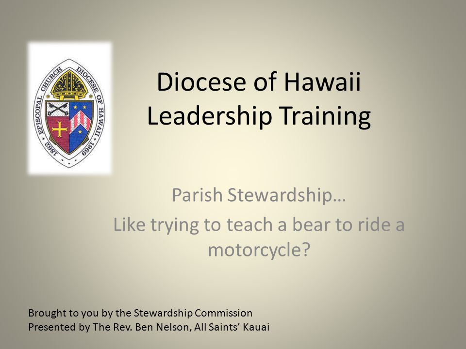 Diocese of Hawaii Leadership Training