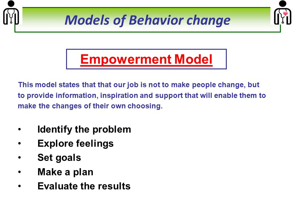 Models of Behavior change