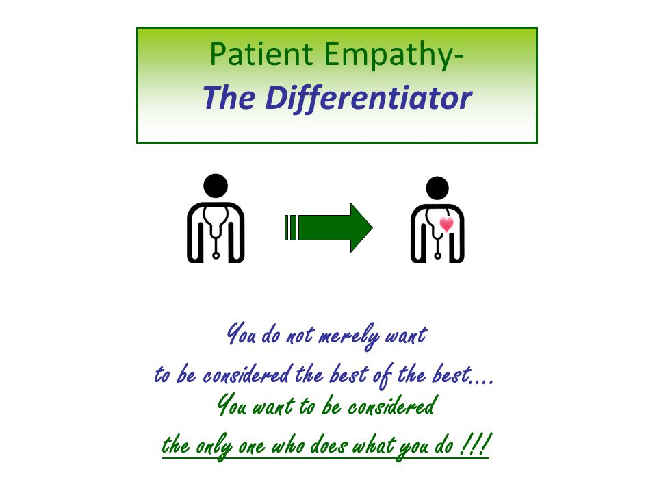 Patient Empathy- The Differentiator