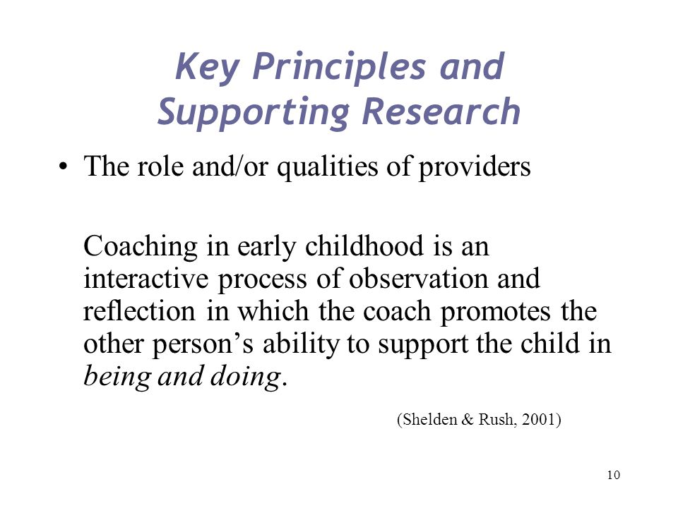 Key Principles and Supporting Research