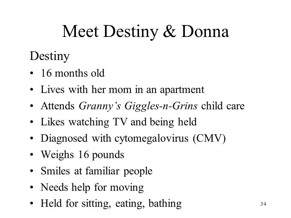 Meet Destiny & Donna Destiny 16 months old