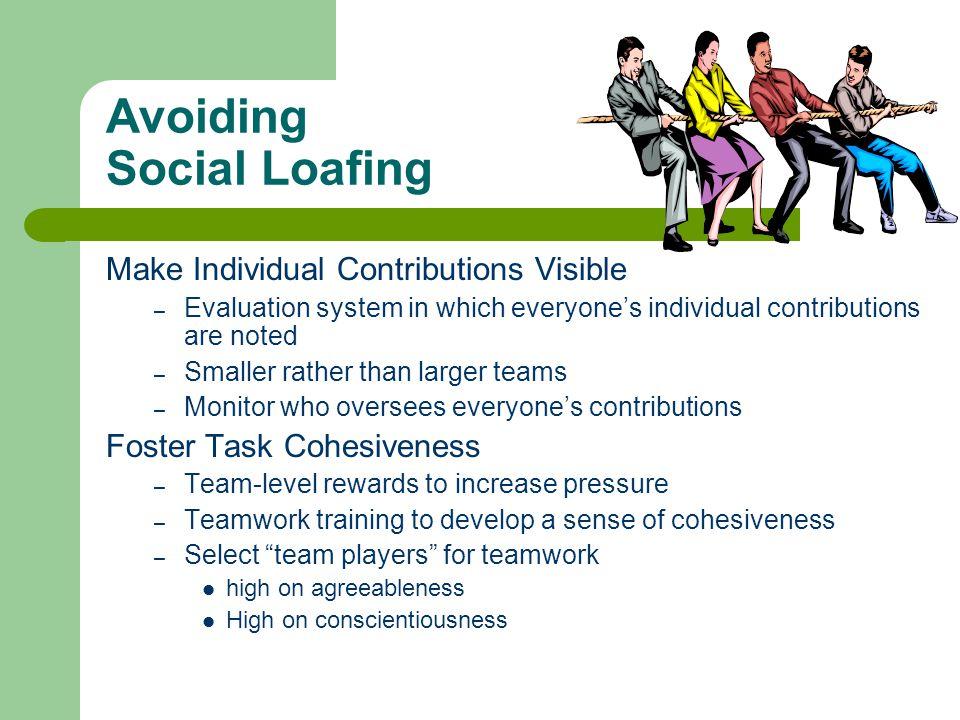 Avoiding Social Loafing