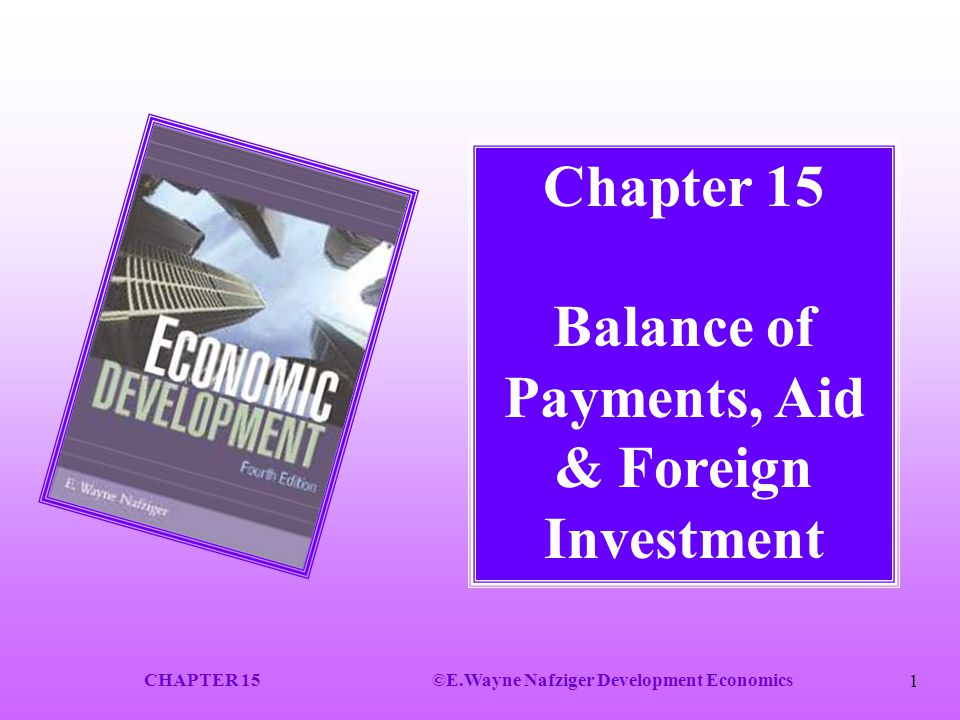 Chapter 15 Balance of Payments, Aid & Foreign Investment