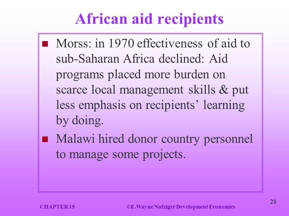 African aid recipients