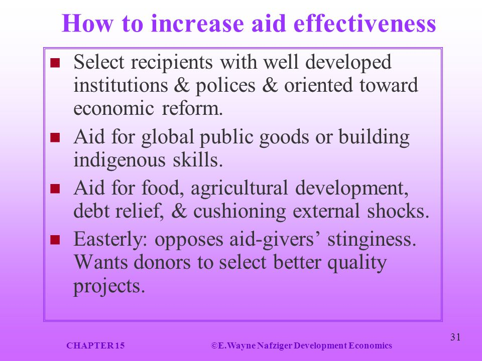 How to increase aid effectiveness