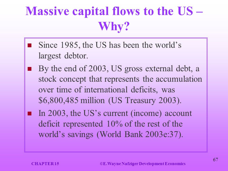 Massive capital flows to the US – Why