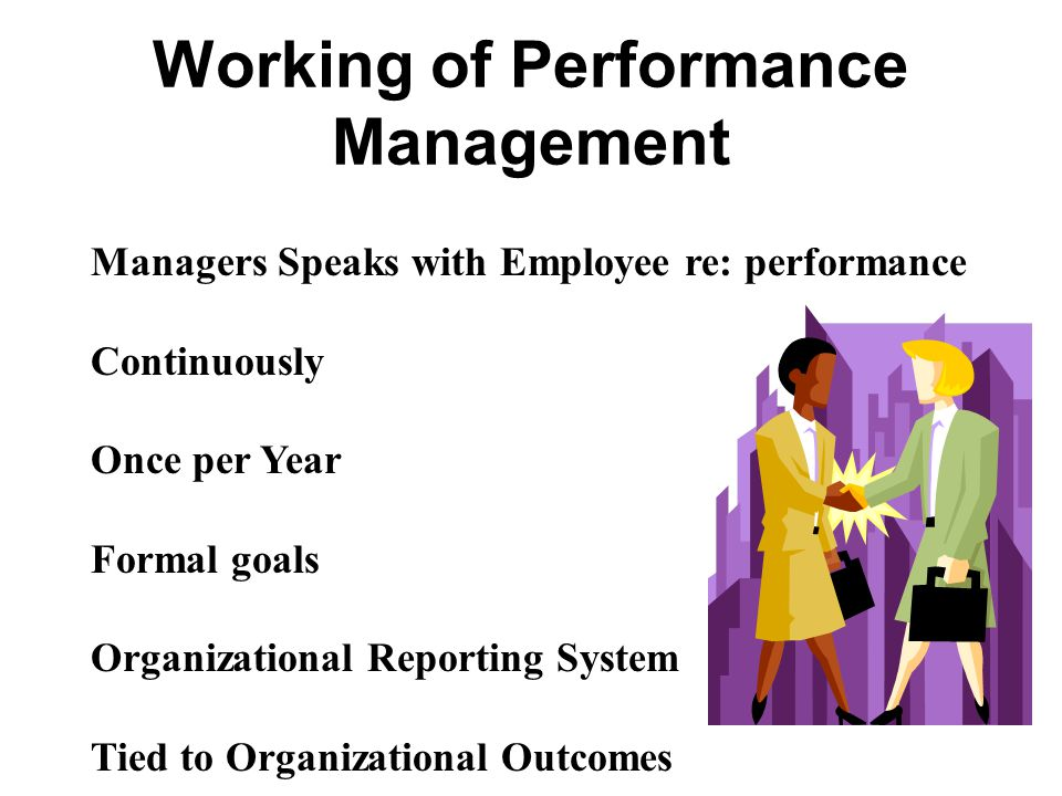 Working of Performance Management