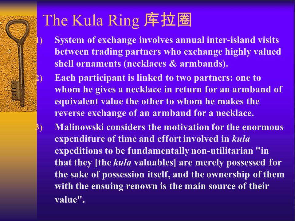 The Kula Ring 库拉圈