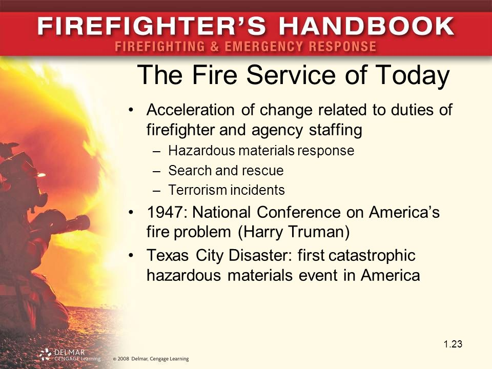 The Fire Service of Today