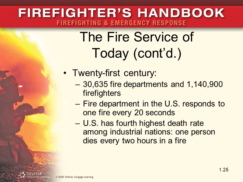 The Fire Service of Today (cont'd.)
