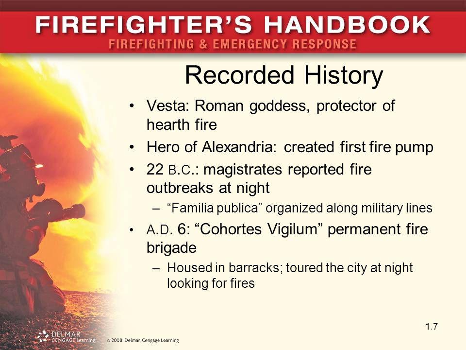 Recorded History Vesta: Roman goddess, protector of hearth fire