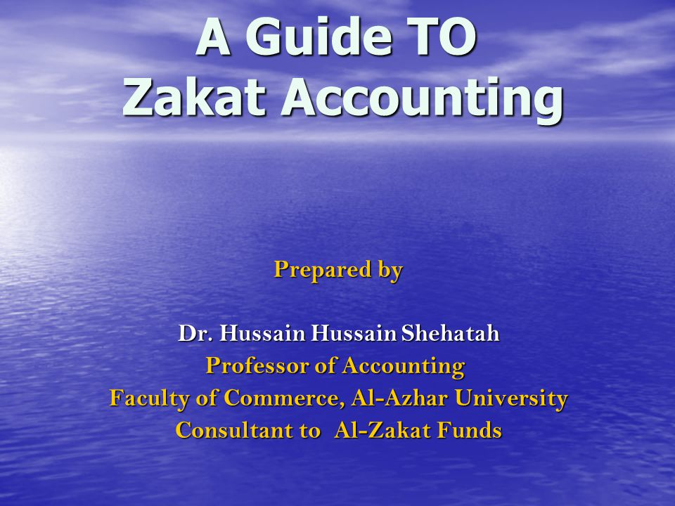 A Guide TO Zakat Accounting