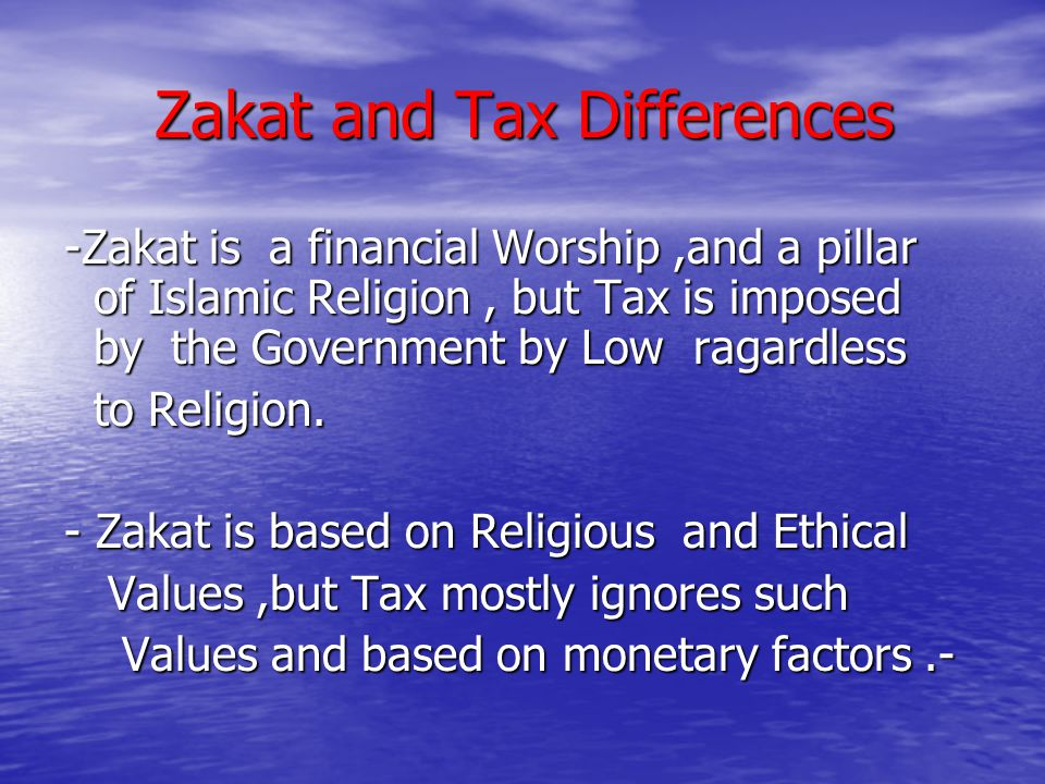 papers on islamic ethics on tax The paper consists of four parts: nature governing rules in islamic  (physical  development) of the land than collecting the land tax.