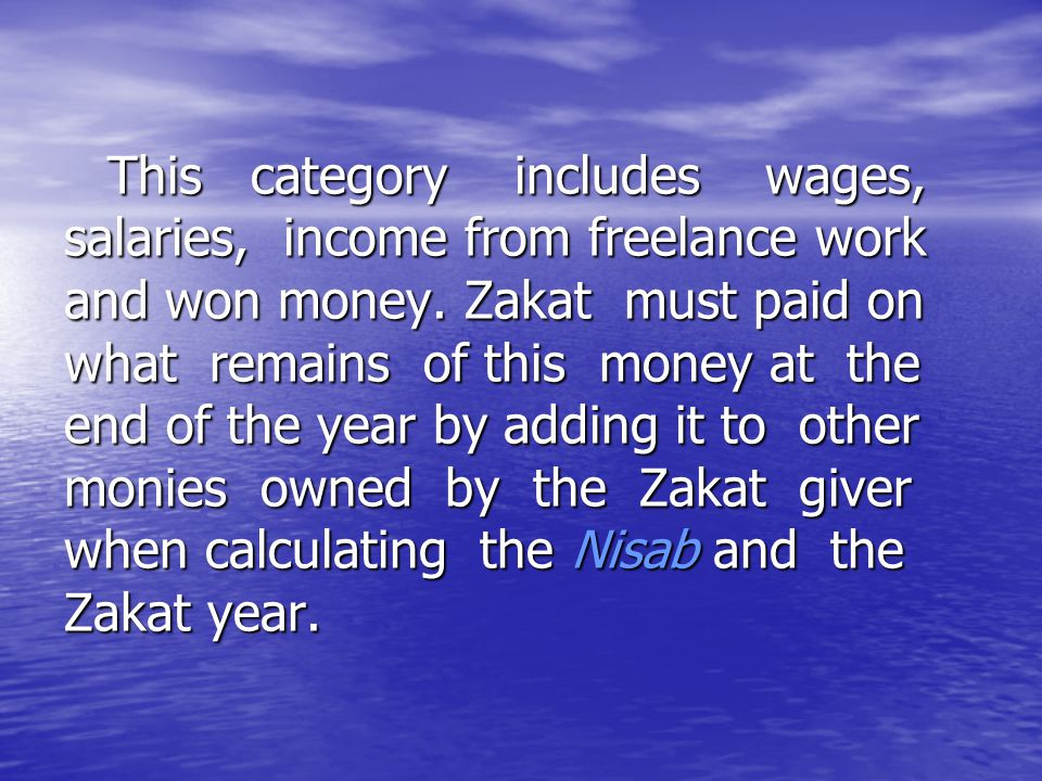 This category includes wages, salaries, income from freelance work and won money.