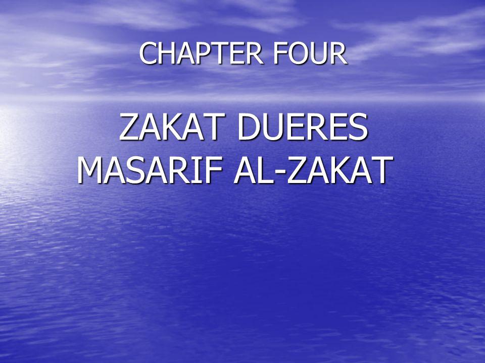 ZAKAT DUERES MASARIF AL-ZAKAT