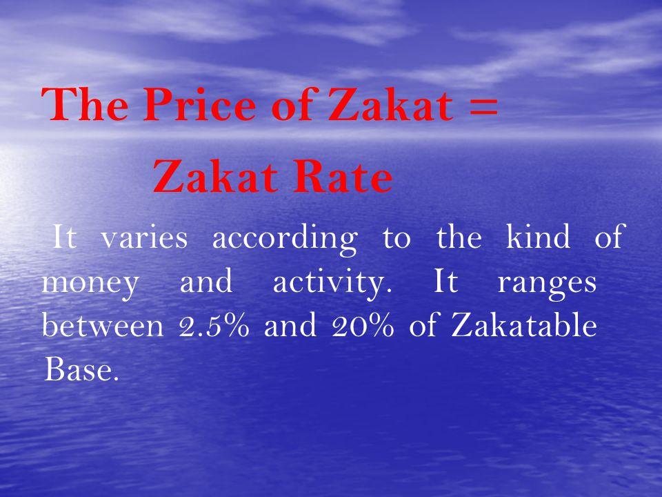 The Price of Zakat = Zakat Rate