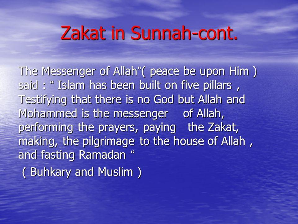 Zakat in Sunnah-cont.