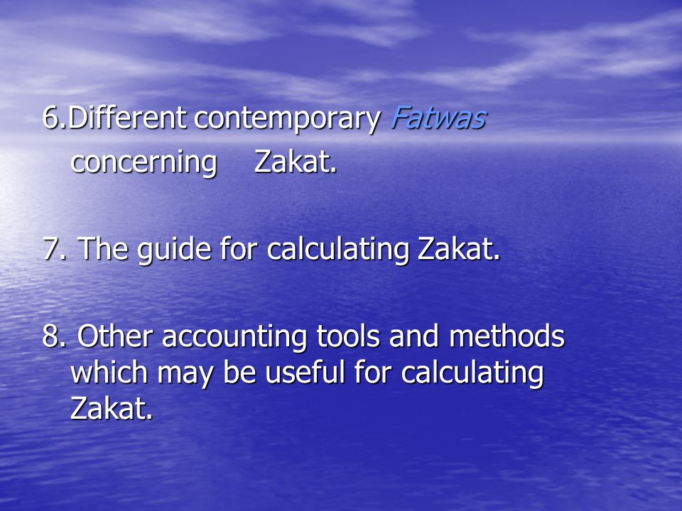 6.Different contemporary Fatwas