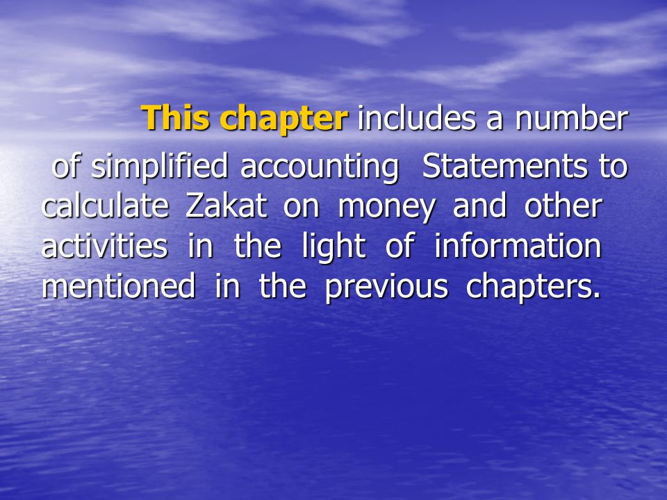 This chapter includes a number