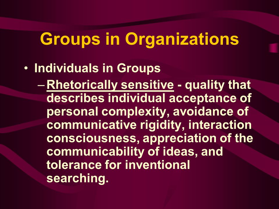 Groups in Organizations