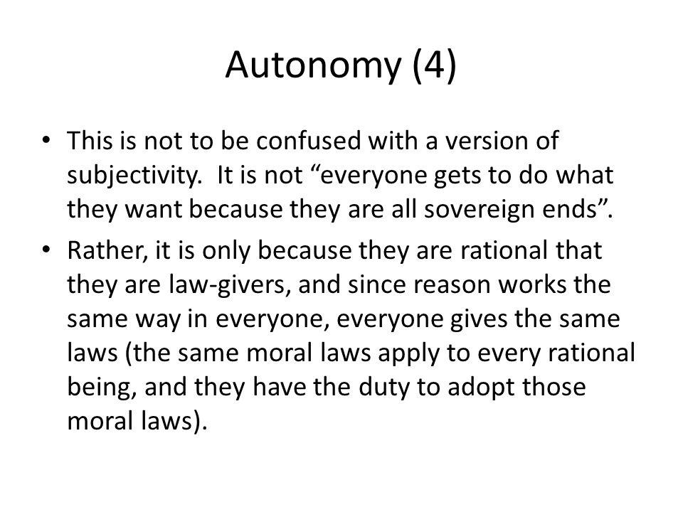 Autonomy (4)