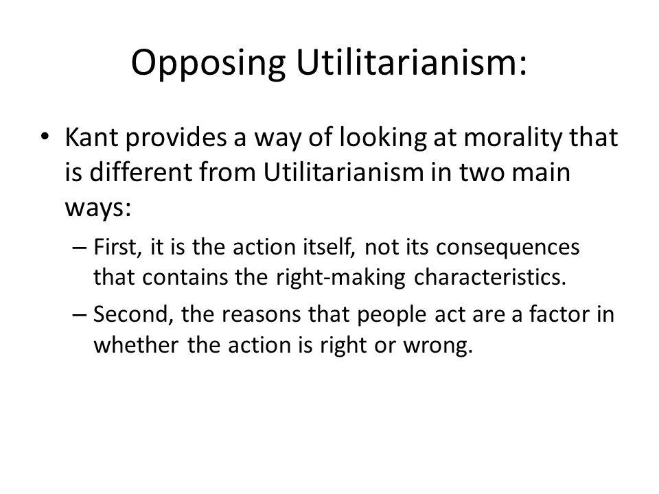 Opposing Utilitarianism: