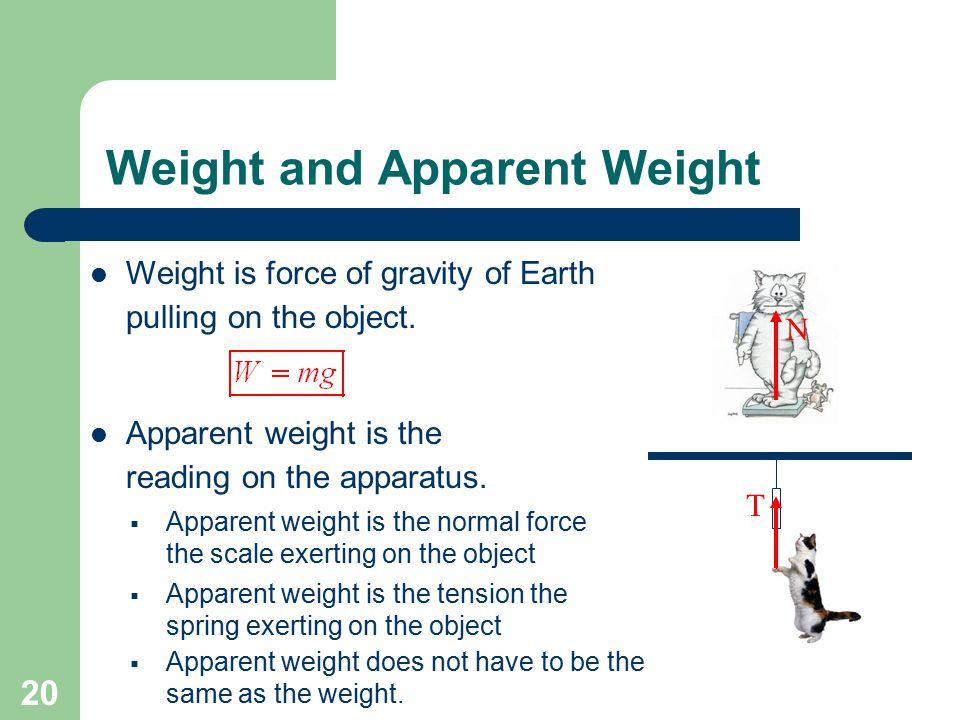 Weight and Apparent Weight