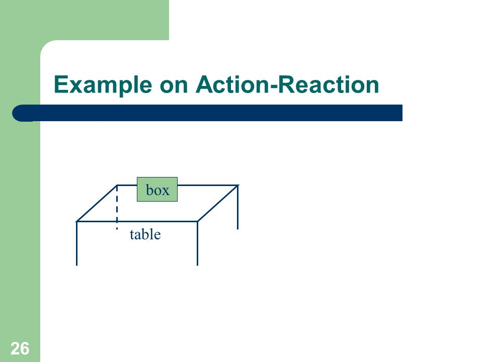Example on Action-Reaction