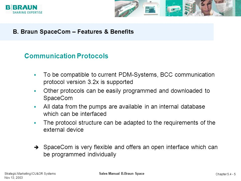 B. Braun SpaceCom – Features & Benefits