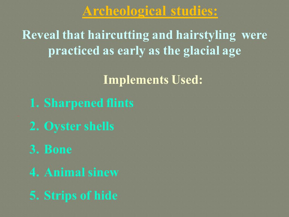 Archeological studies: