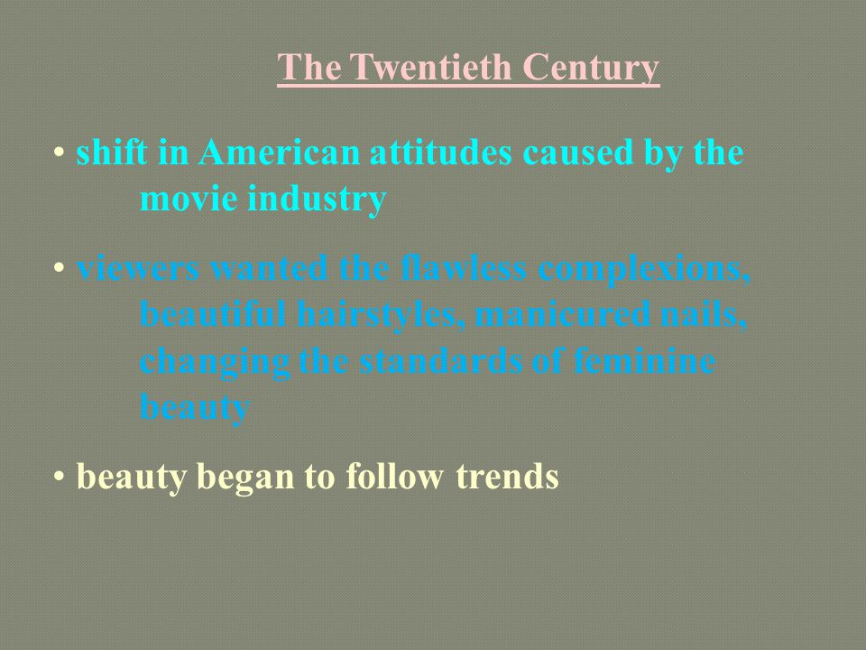 The Twentieth Century shift in American attitudes caused by the movie industry.