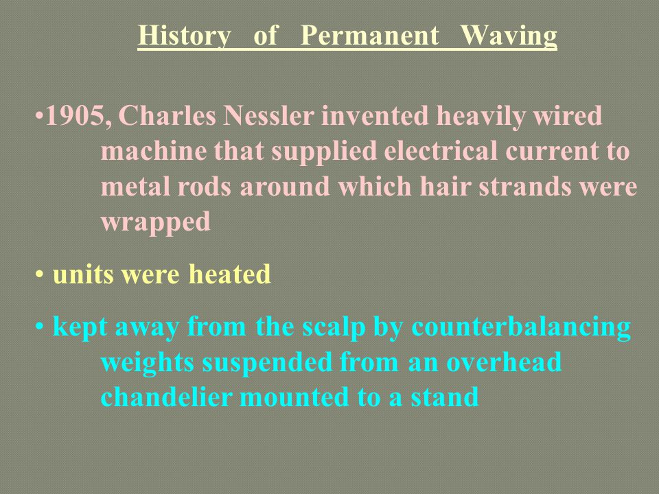 History of Permanent Waving