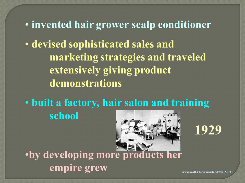 1929 invented hair grower scalp conditioner