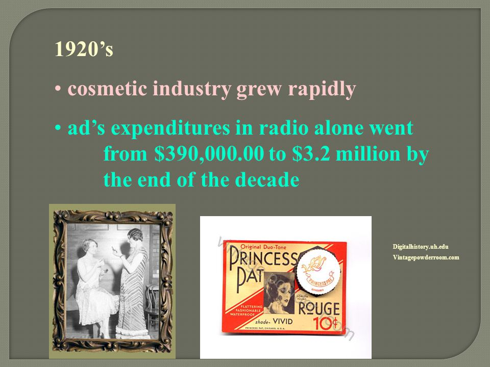 cosmetic industry grew rapidly