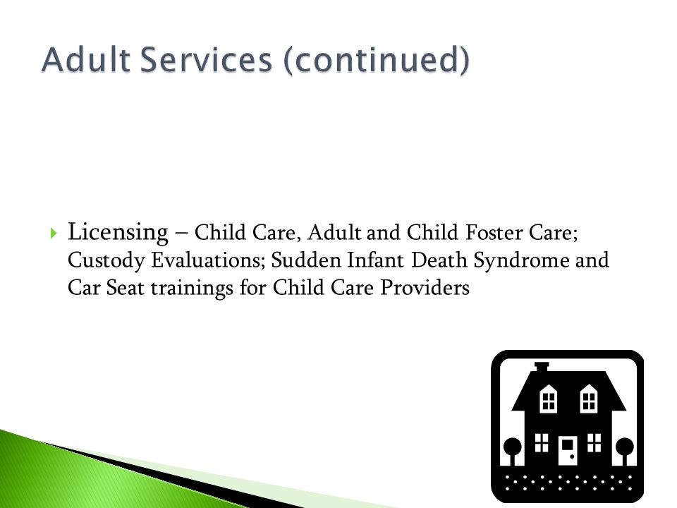 Adult Services (continued)