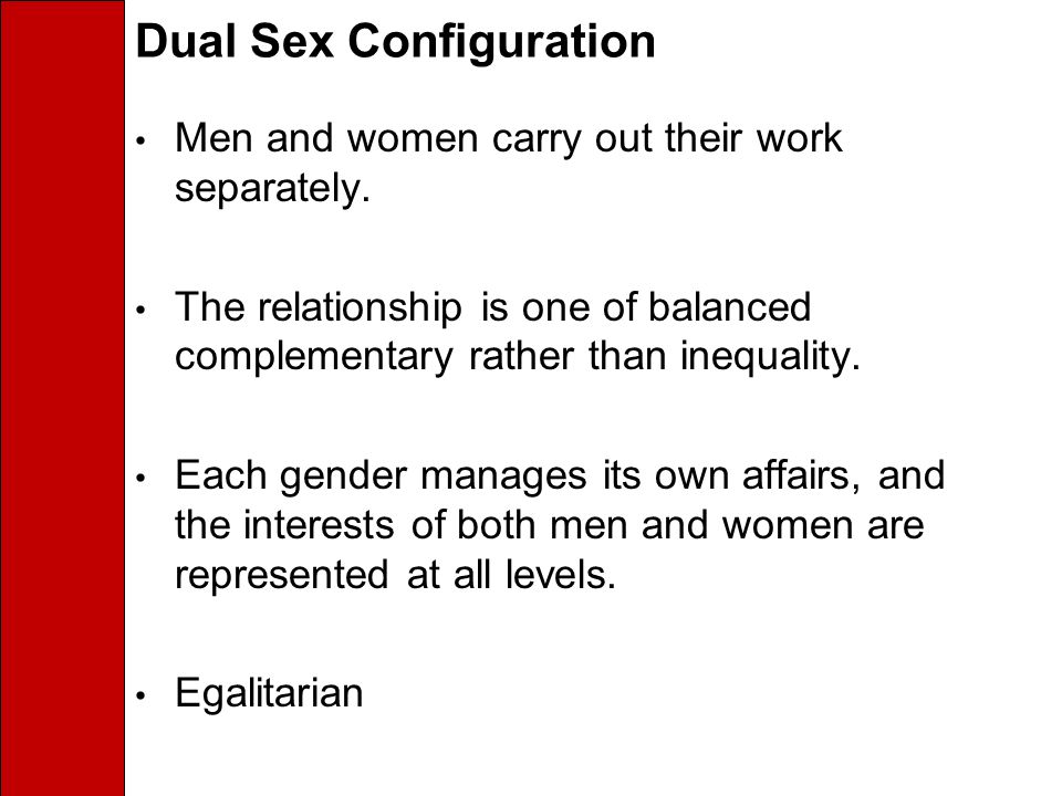 Dual Sex Configuration
