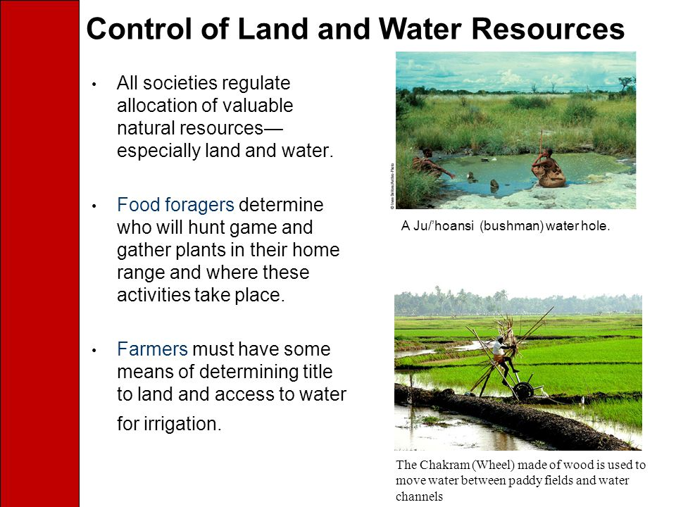 Control of Land and Water Resources