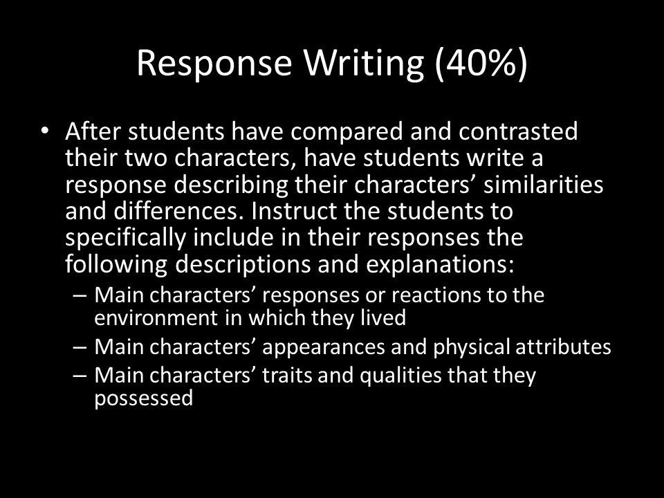 Response Writing (40%)