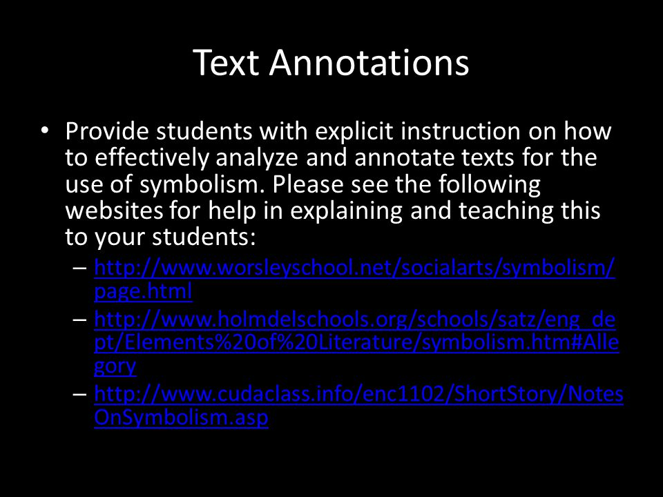 Text Annotations