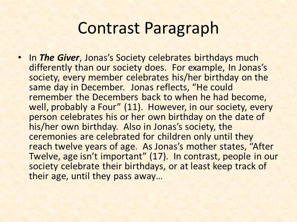 Contrast Paragraph