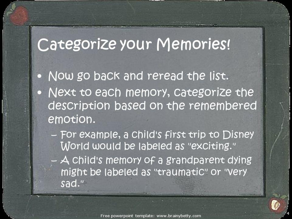 Categorize your Memories!