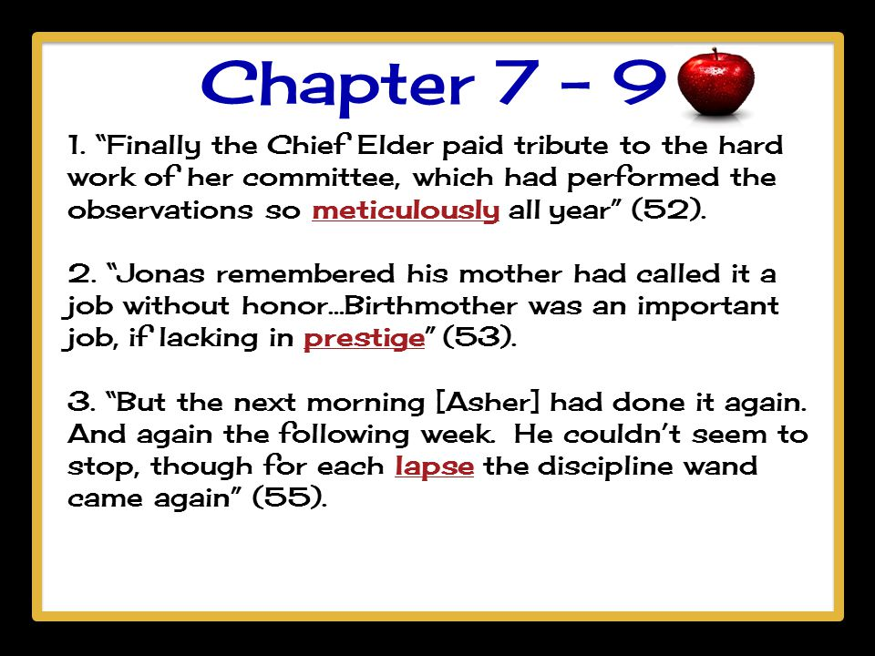 Chapter 7 - 9