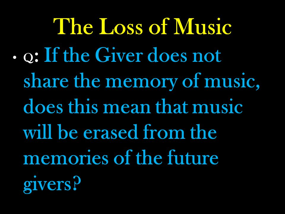 The Loss of Music