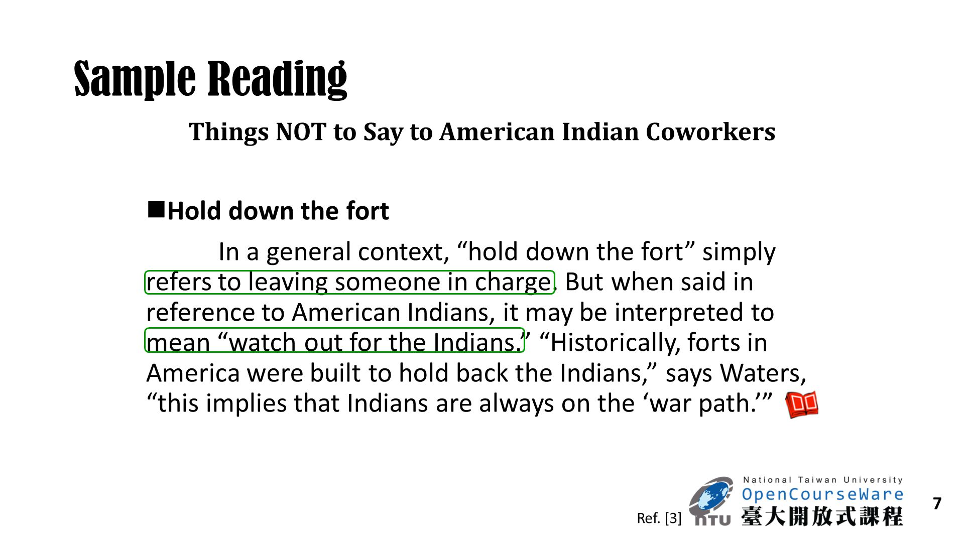 Things NOT to Say to American Indian Coworkers