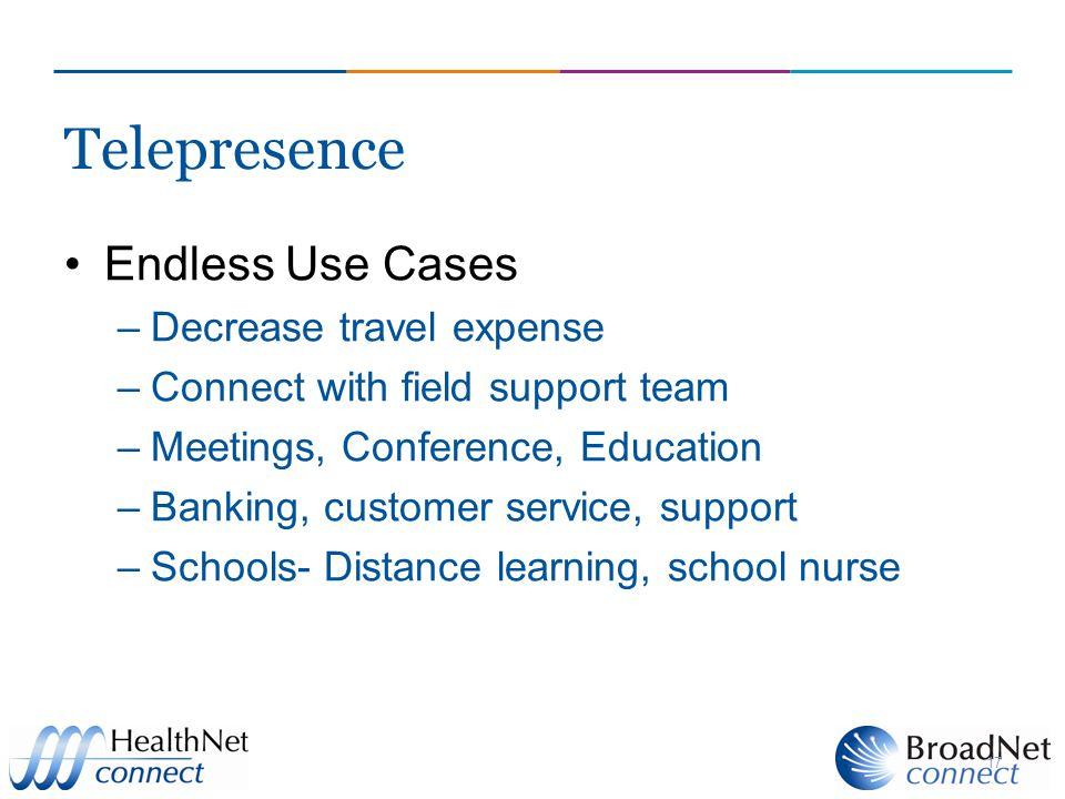 Telepresence Endless Use Cases Decrease travel expense