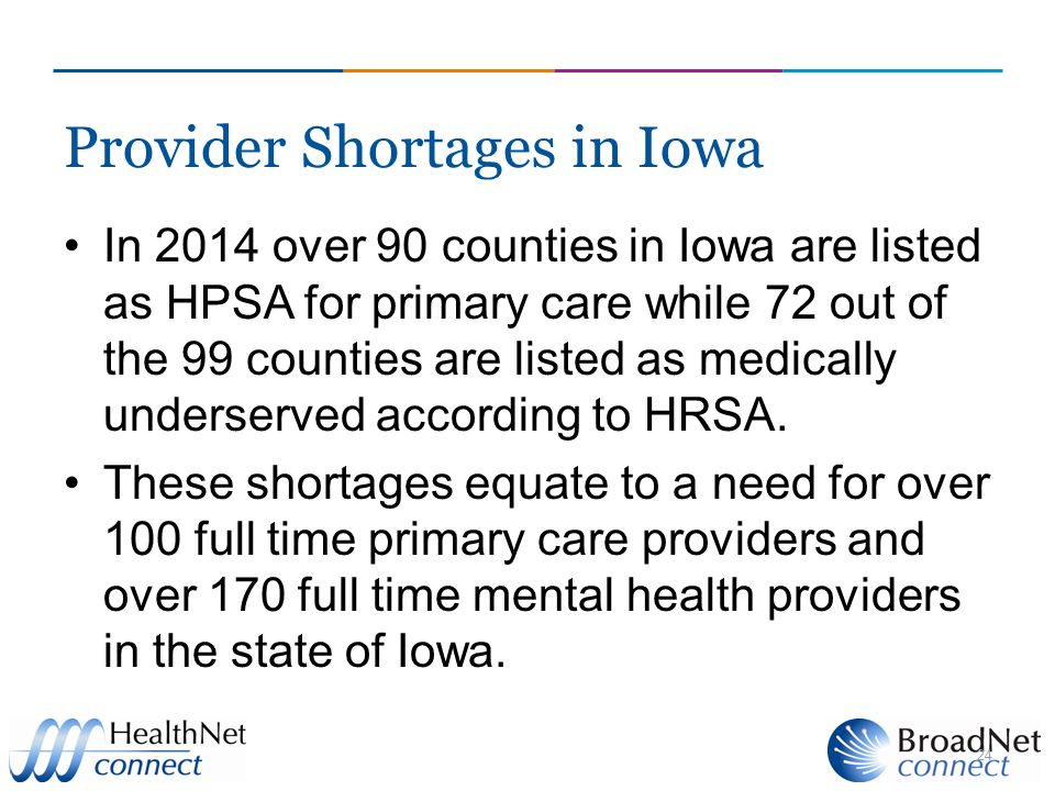 Provider Shortages in Iowa