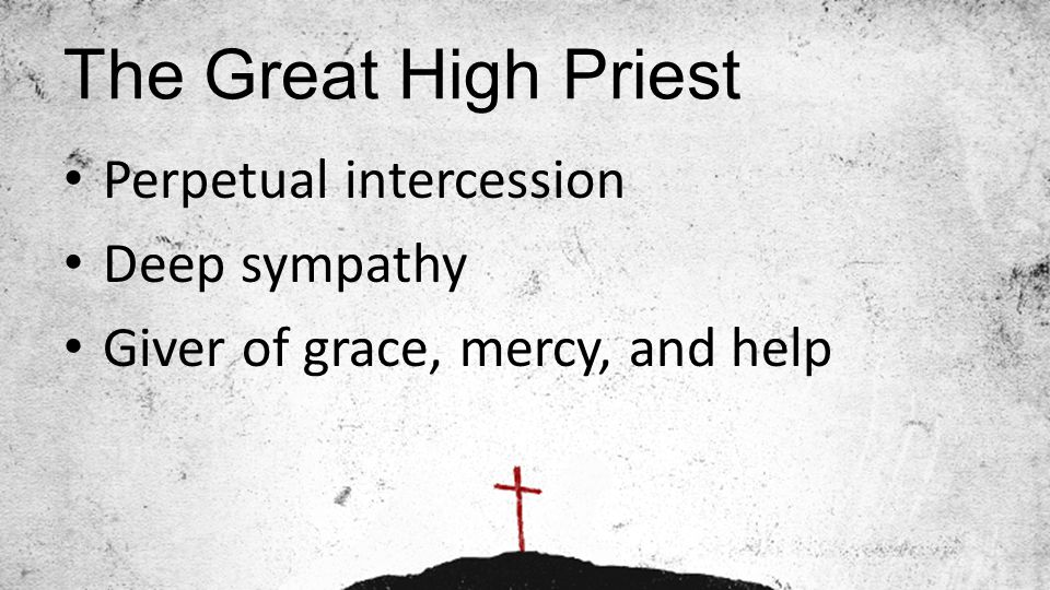 The Great High Priest Perpetual intercession Deep sympathy