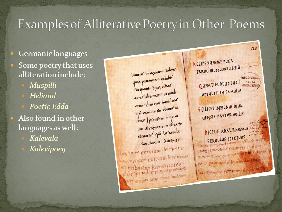 Examples of Alliterative Poetry in Other Poems