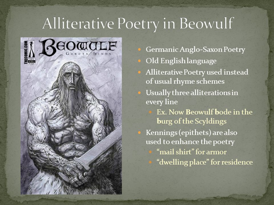 Alliterative Poetry in Beowulf